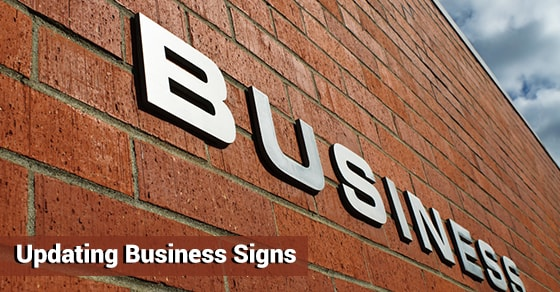 Updating Business Signs