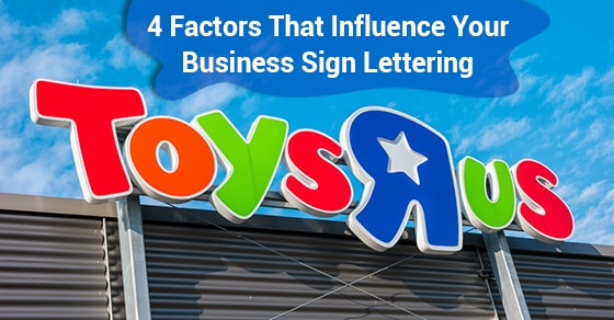 Business Sign Lettering
